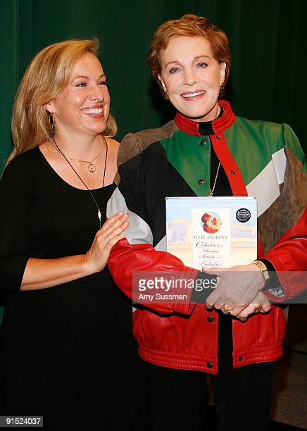 Daughter Emma Walton Hamilton and actress Julie Andrews promote Julie Andrews' Collection Of Poems Songs and Lullabies at Barnes Noble Tribeca on...