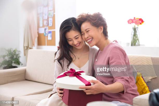 daughter gift for my mother - chinese mothers day stock pictures, royalty-free photos & images