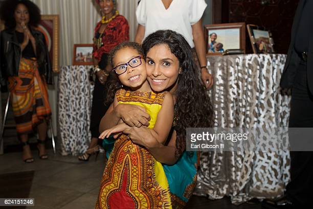 Daughter Lucia Bella Benet and mom Manuela Testolini attend 'In A Perfect World Give 100 Fundraiser' at The District Restaurant on November 17 2016...