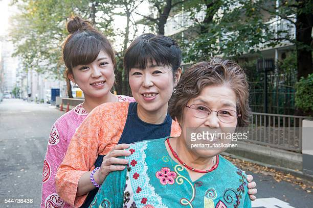 Daughter, mother and grandmother.