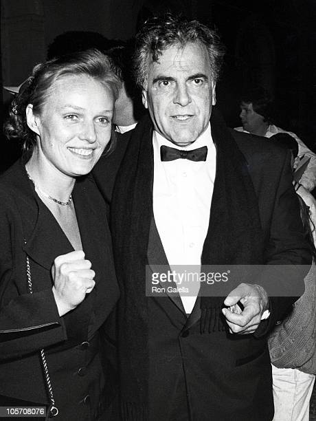 Daughter Natasha and Maximilian Schell during PreOscar Gala March 2 1990 at L'Orangerie in Hollywood California United States