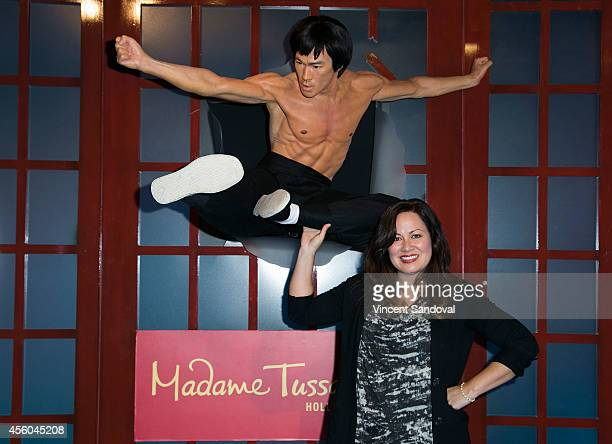 Daughter of Bruce Lee Shannon Lee attends Madame Tussauds Hollywood unveiling of the new Bruce Lee figure at Madame Tussauds on September 24 2014 in...
