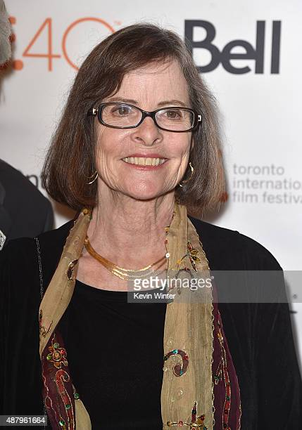 Daughter of Dalton Trumbo Mitzi Trumbo attends the Trumbo premiere during the 2015 Toronto International Film Festival at The Elgin on September 12...