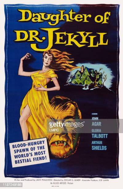 Daughter Of Dr Jekyll poster US poster art Gloria Talbott Arthur Shields 1957