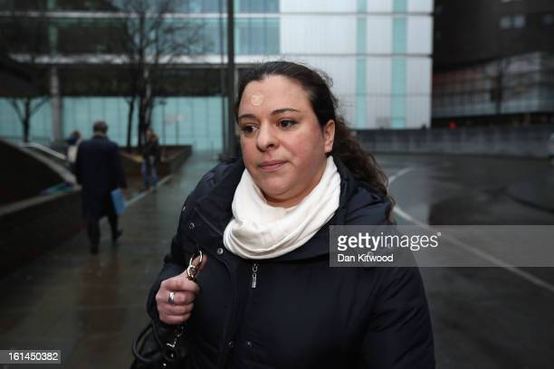 Daughter of Former Cabinet member Chris Huhne and his exwife Vicky Pryce Georgia Beasley leaves Southwark Crown Court on February 11 2013 in London...