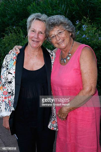 Daughter of Gerard Philippe Producer AnneMarie Philipe and President of Ramatuelle Festival Jacqueline Franjou attend the 'Madame Foresti' show of...