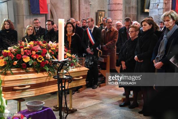 Daughter of late cyclist Raymond Poulidor Corinne Poulidor his widow Gisele Poulidor French Sports Minister Roxana Maracineanu Minister of State for...