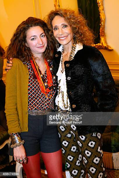 Daughter of Loulou de la Falaise Anna Klossowski de Rola and Marisa Berenson attend the 'Loulou de la Falaise' book signing Held at the Fondation...
