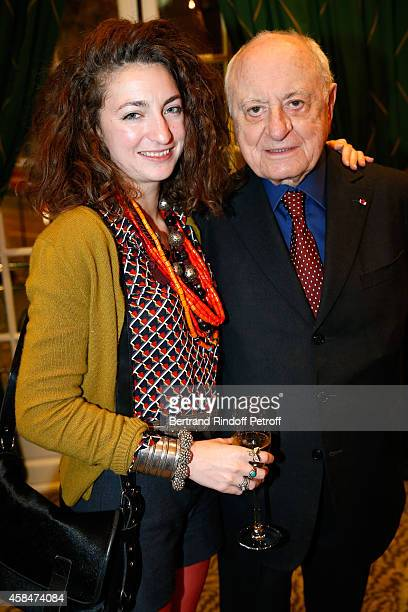 Daughter of Loulou de la Falaise Anna Klossowski de Rola and Pierre Berge attend the 'Loulou de la Falaise' book signing Held at the Fondation...