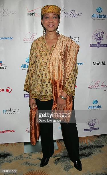 Daughter of Malcolm X Attallah Shabazz attends the Jenesse Silver Rose Gala and Auction at the Beverly Hills Hotel on April 19 2009 in Beverly Hills...