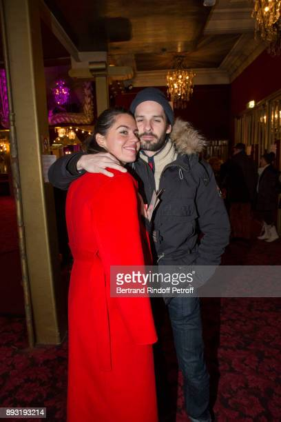 Daughter of Michel Leeb Elsa Leeb and her friend attend Michel Leeb 40 ans Theater Show at Casino de Paris on December 14 2017 in Paris France