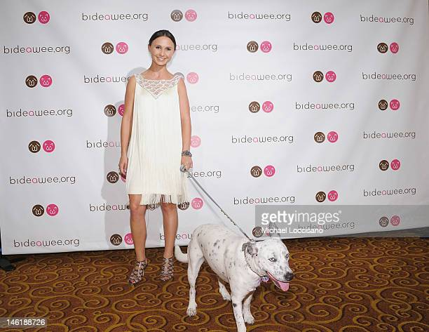 Daughter of New York City Mayor Michael Bloomberg Georgina Bloomberg and her dog Mona attend the 2012 Bideawee Gala at Gotham Hall on June 11 2012 in...