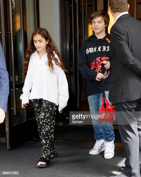 Daughter of Salma Hayek, Valentina Pinault, departs her hotel on May 5, 2018 in New York City.