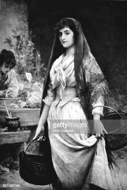 A Daughter of the Ghetto' circa 1910 From Bibby's Annual 1912 [J Bibby Sons Liverpool 1912] Artist Sir Luke Fildes Luke Fildes