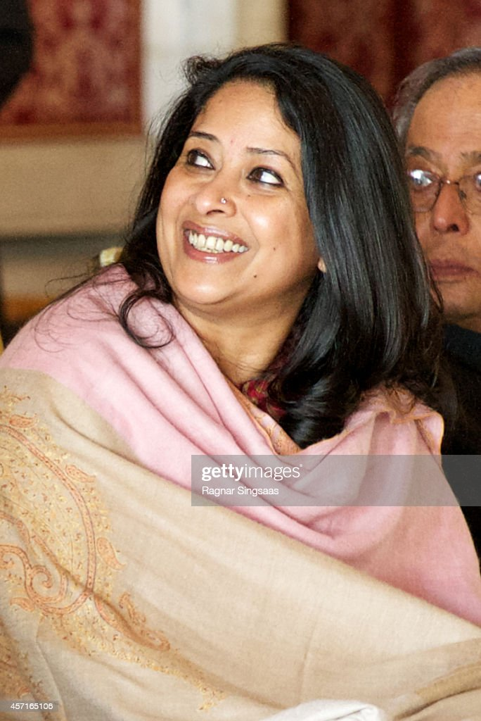 Daughter of the President of India Sharmistha Mukherjee attends a guided tour at the Oslo City Hall during the first day of the state visit from India on October 13, 2014 in Oslo, Norway.
