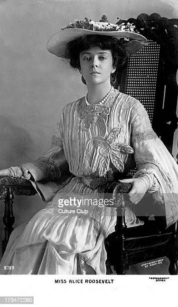 Alice Roosevelt Longworth portrait 1904 Daughter of Theodore Roosevelt the 26th President of the United States and his first wife Alice Hathaway Lee...