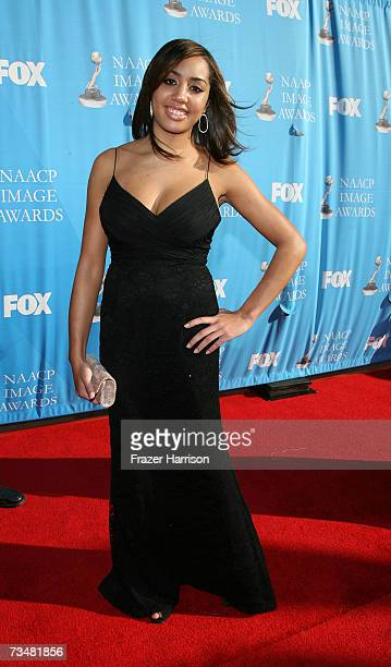 Daughter of Vanessa Williams Melanie Herveym arrives at the 38th annual NAACP Image Awards held at the Shrine Auditorium on March 2 2007 in Los...