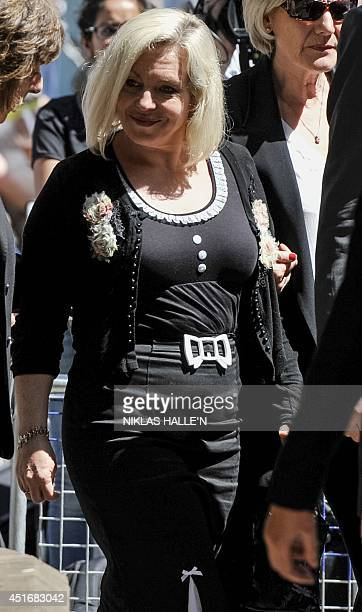 Daughter of veteran entertainer Rolf Harris Bindi Harris leaves Southwark Crown Court in south London on July 4 following her father's sentencing...