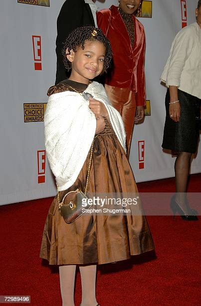 Daughter of Will and Jada Smith, Willow Smith, arrives at the 12th Annual Critics' Choice Awards held at the Santa Monica Civic Auditorium on January...
