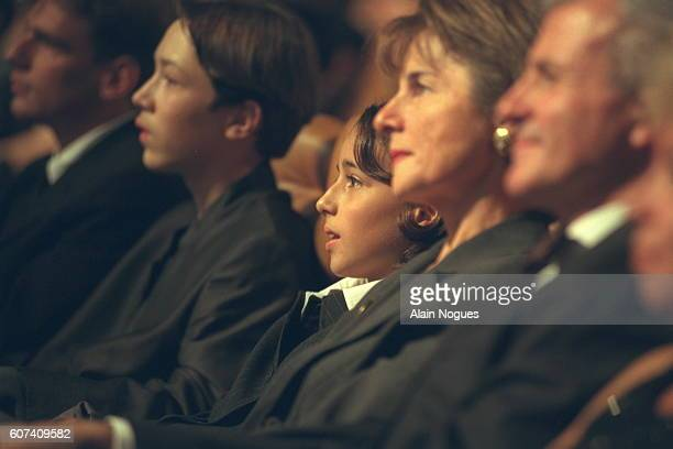Daughter of Yves Mourousi Sophie at the ceremony in tribute to her father who died this year