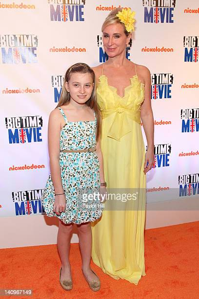 Daughter Quincy Q Morgan and Real Housewives of New York personality Sonja Morgan attend the Big Time Movie New York premiere at 583 Park Avenue on...