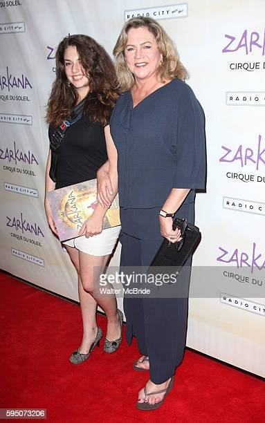 Daughter Rachel Ann Weiss and Kathleen Turner attending the Opening Night Performance of The New Cirque Du Soleil Acrobatic Spectacle 'Zarkana' in...