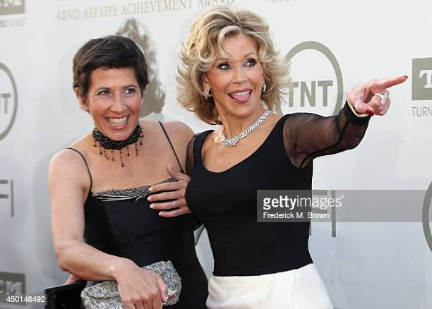 Daughter Vanessa Vadim and Honoree Jane Fonda attend the 2014 AFI Life Achievement Award A Tribute to Jane Fonda at the Dolby Theatre on June 5 2014...