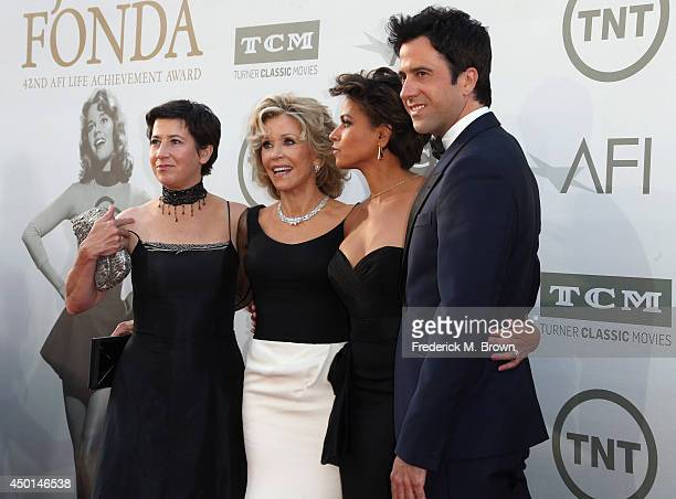 Daughter Vanessa Vadim Honoree Jane Fonda Simone Bent and son Troy Garity attend the 2014 AFI Life Achievement Award A Tribute to Jane Fonda at the...