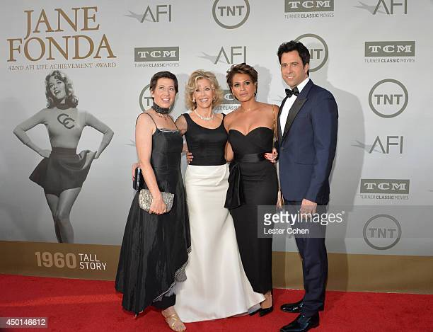 Daughter Vanessa Vadim Honoree Jane Fonda son and actor Troy Garity and Simone Bent attend the 2014 AFI Life Achievement Award A Tribute to Jane...