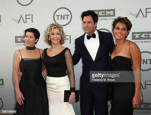 Daughter Vanessa Vadim Honoree Jane Fonda son Troy Garity and Simone Bent attend the 2014 AFI Life Achievement Award A Tribute to Jane Fonda at the...