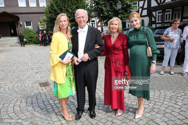 Daughter Vanessa zu SaynWittgensteinBerleburg and Prince OttoLudwig zu SaynWittgensteinBerleburg and his wife princess Annette zu...