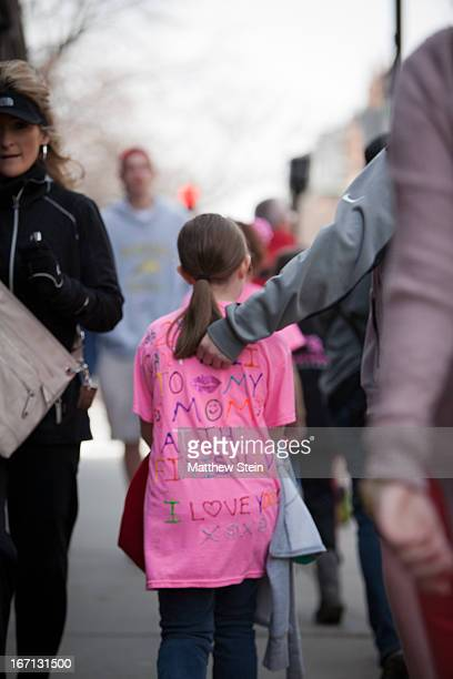 CONTENT] A daughter walks to the finish line to cheer on her mother who is running the Boston Marathon in 2013