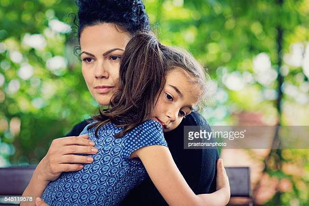 daughters and mother - abuse stock pictures, royalty-free photos & images