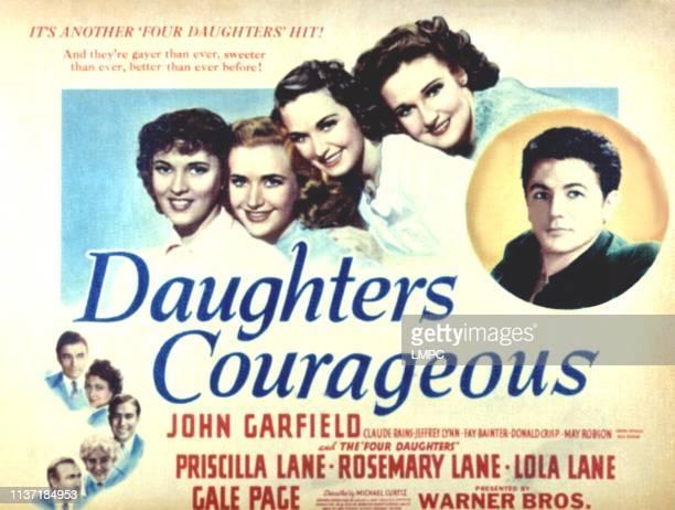 Daughters Courageous poster Fay Bainter Claude Rains Priscilla Lane Rosemary Lane Lola Lane Gale Page John Garfield 1939