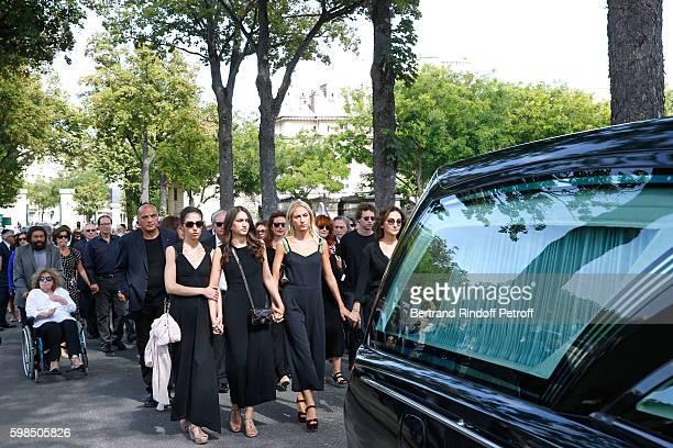 daughters of Nathalie Tatiana Burstein Salome Burstein Lola Burstein and daughter of Sonia Nathalie Rykiel attend the Designer Sonia Rykiel's...
