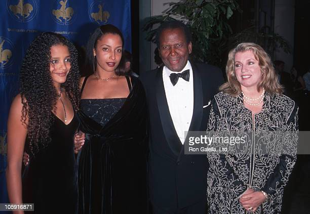 Daughters, Sidney Poitier and Joanna Shimkus during 12th Carousel of Hope Ball at Beverly Hilton Hotel in Beverly Hills, California, United States.