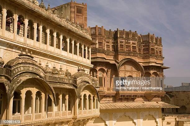 daulat khana, meherangarh fort, jodhpur, rajasthan, india, asia - meherangarh fort stock photos and pictures