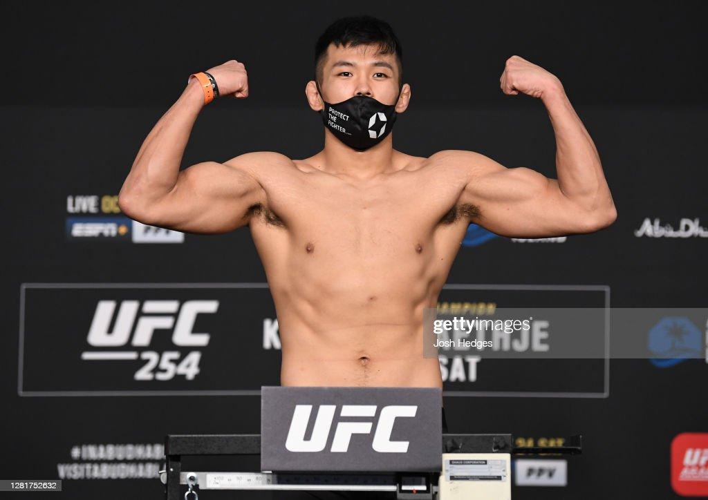 UFC 254: Khabib v Gaethje Weigh-in : News Photo