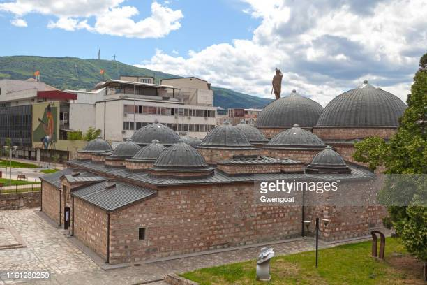 daut pasha amam in skopje - skopje stock pictures, royalty-free photos & images