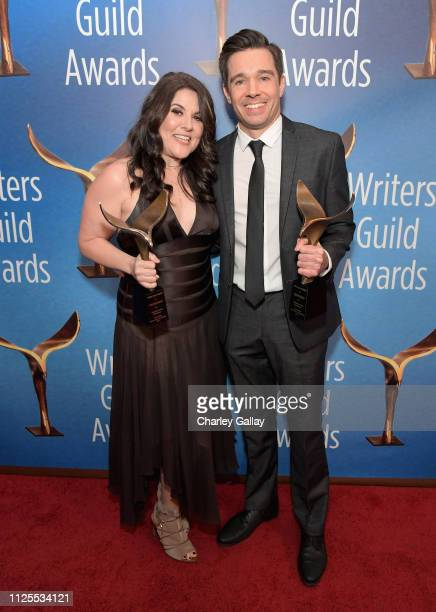 Dava Whisenant and Ozzy Inguanzo winners of Documentary Screenplay pose in the press room during the 2019 Writers Guild Awards LA Ceremony at The...