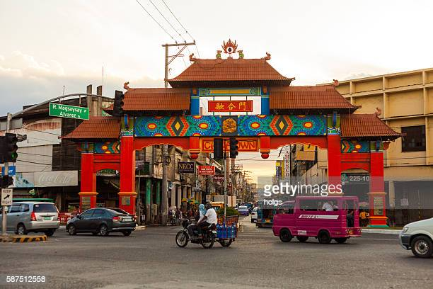 davao chinatown - davao city stock photos and pictures