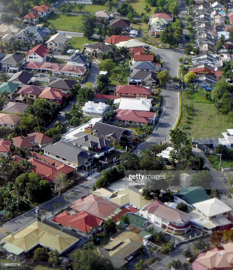 Davao City, aerial view - Mindanao, Philippines : Stock Photo
