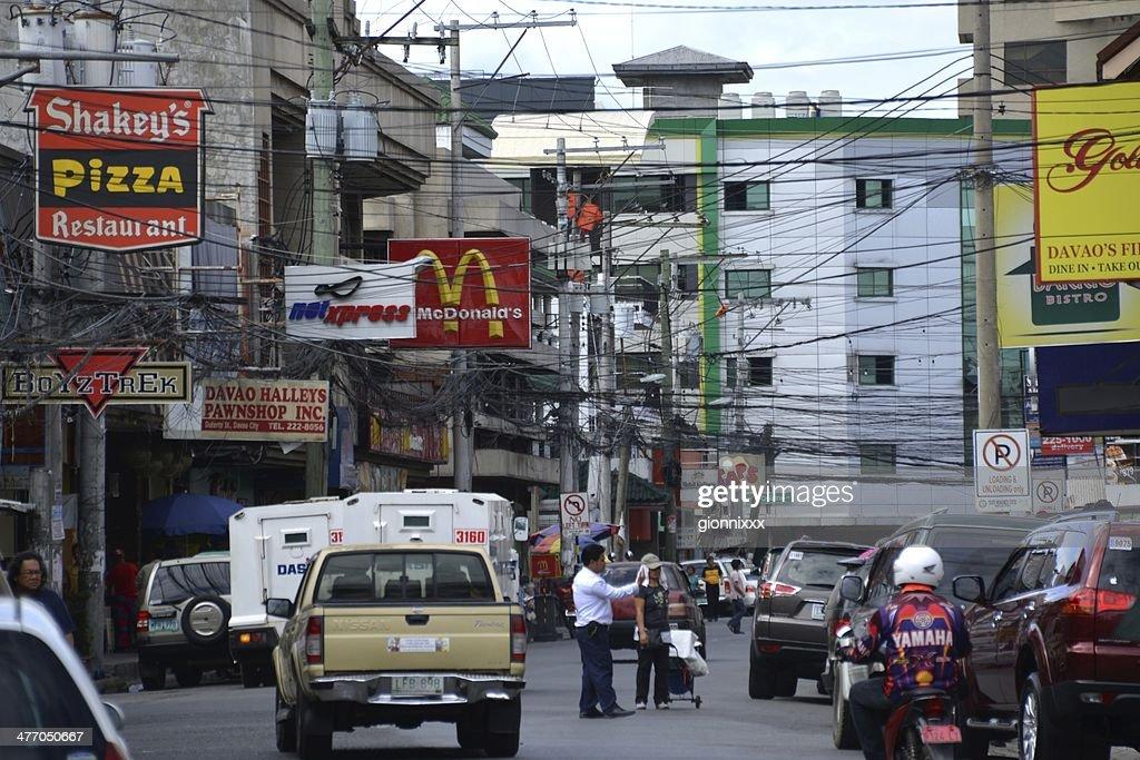 Davao city street, Mindanao Philippines : Stock Photo