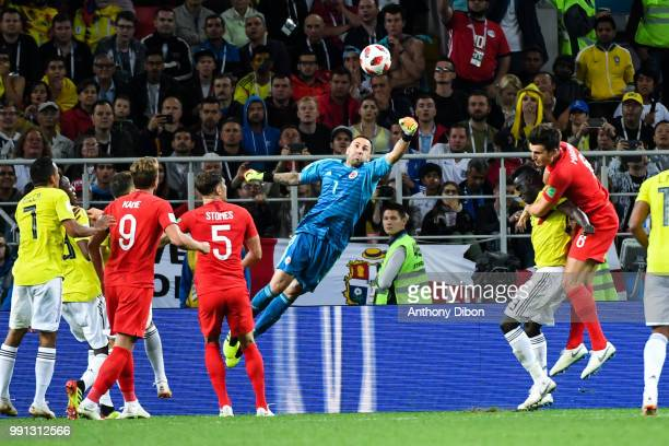 Davd Ospina of Colombia during the 2018 FIFA World Cup Russia Round of 16 match between Colombia and England at Spartak Stadium on July 3 2018 in...