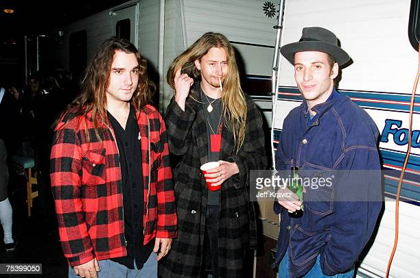 Dave Abbruzzese of Pearl Jam Jerry Cantrell of Alice in Chains and Stone Gossard of Pearl Jam