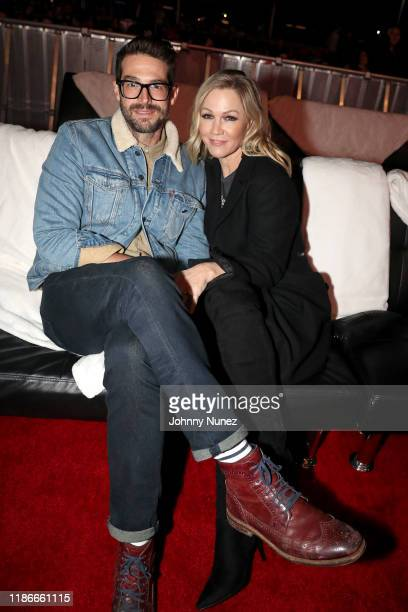 Dave Abrams and Jennie Garth attend as philanthropist and attorney Thomas J Henry launches new art and music experience Austin Elevates at Austin 360...
