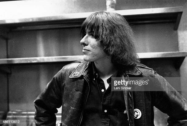 Dave Alexander of The Stooges backstage at the Birmingham Palladium in Birmingham Michigan