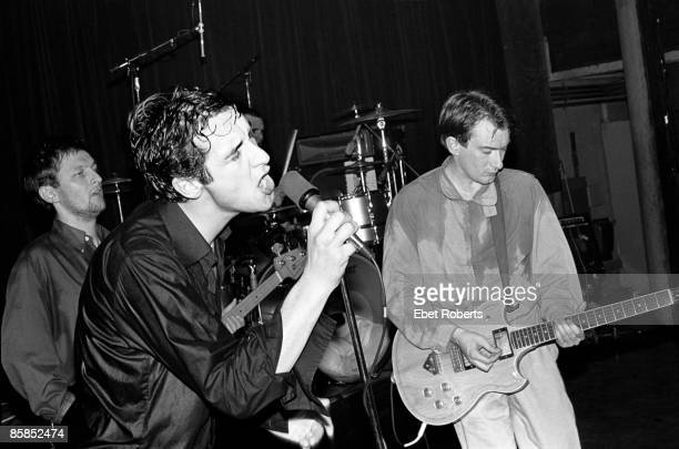 UNITED STATES JANUARY 01 LR Dave Allen Jon King and Andy Gill of Gang of Four performing at Club 57 presents at Irving Plaza in New York City on...