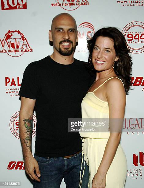 Dave and Christine Kushner during 944 and Area 108 Present Camp Freddy and The Panic Channel at SKIN at The Palms Hotel and Casino Resort Red Carpet...