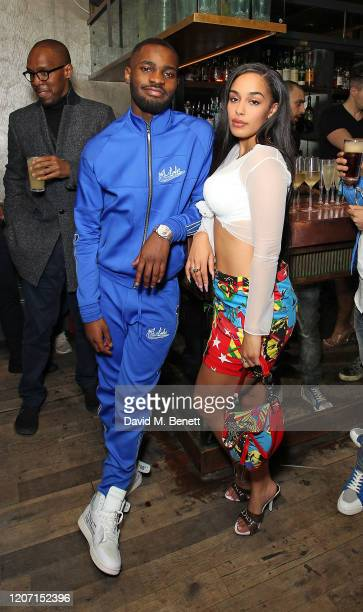 Dave and Jorja Smith attend BRIT Awards After Party With Beats By DrDre at The Scotch of St James on February 18 2020 in London England
